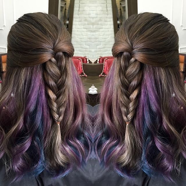 Hidden Colors Of Space Purple And Blue In Between Hair Layers