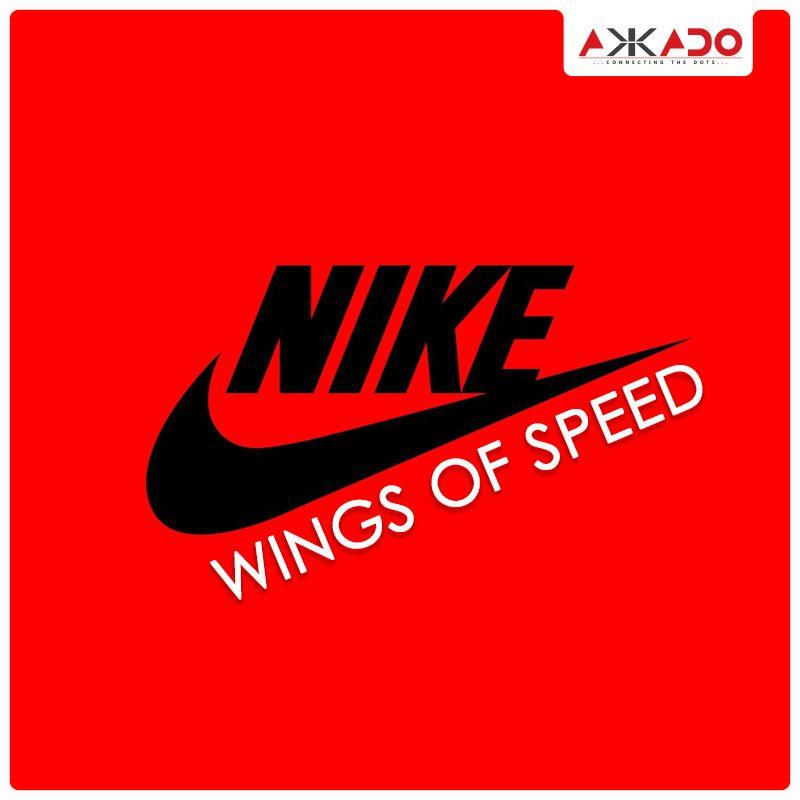 #Nike represents wings and speed! #Akkado #ConnectingtheDots #LogoStory # Logo