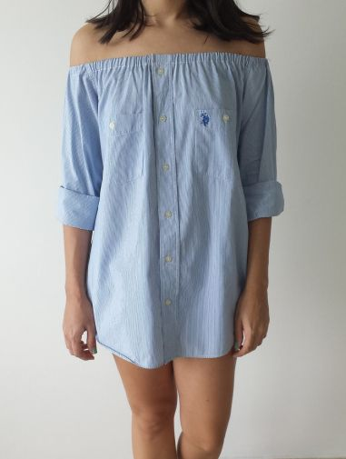 DIY off the shoulder dress / top