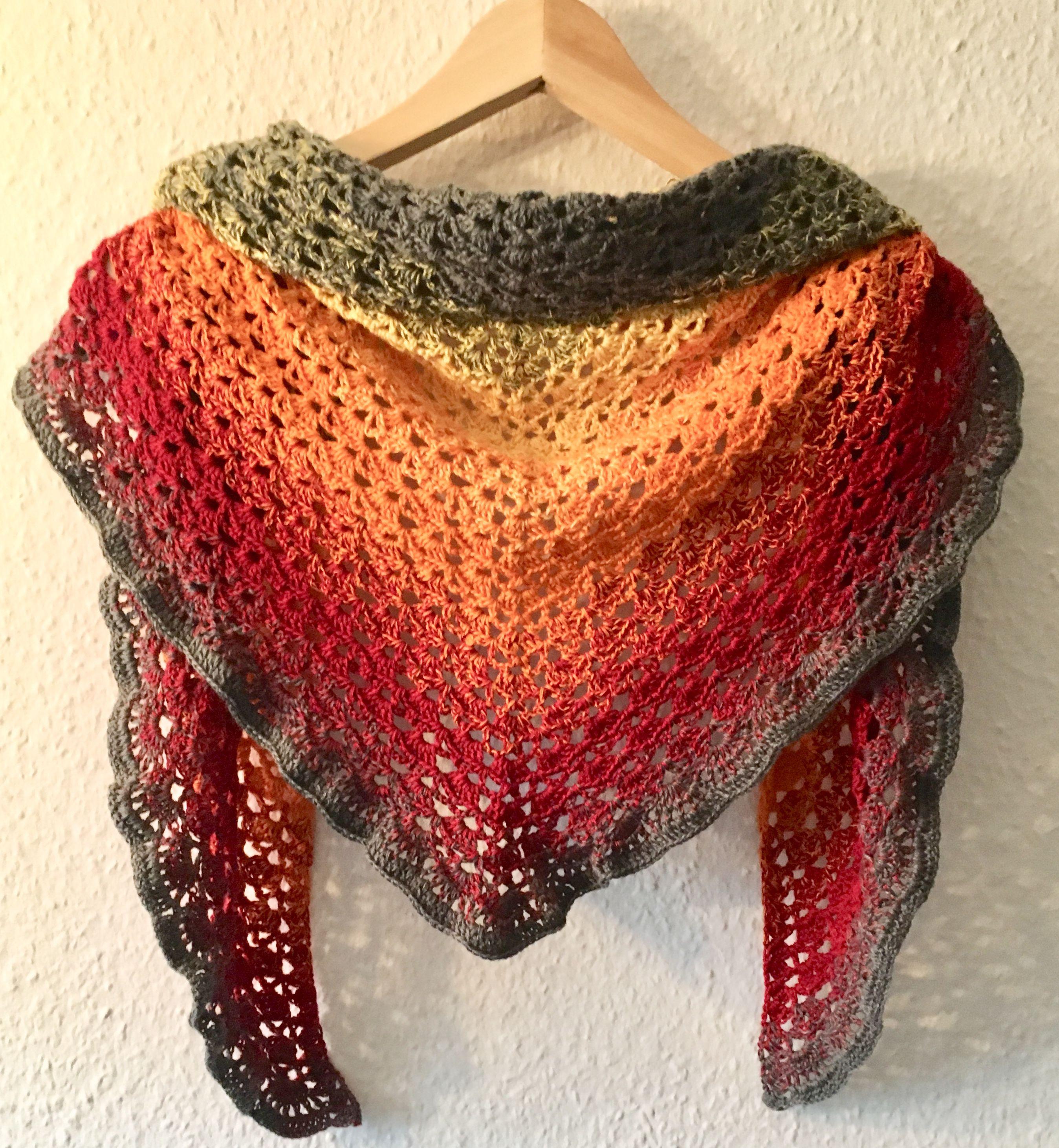Bobbelbox Häkeltuch Sunrise Bobbelboxde Pinterest Knit