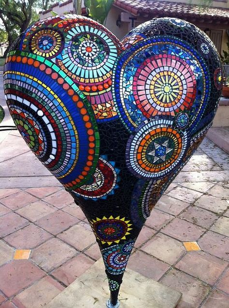 Mosaic Heart by GardenDivaDeb, via Flickr
