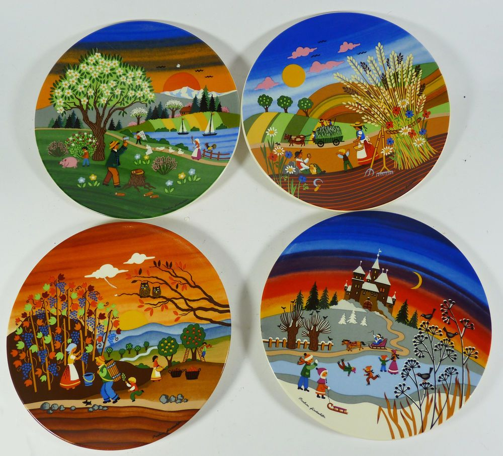 Ebay Co Uk Search: Complete Set Of Poole Pottery Four Seasons Plates Series 1