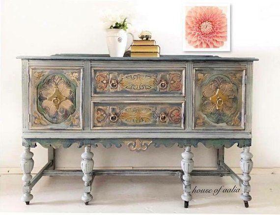 Best Sold Gray Triple Dresser Country Long Dresser Small 400 x 300