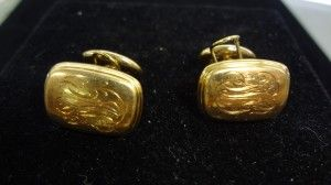 A special find for the right person: signed 14K gold cufflinks. $450.  1/17/13