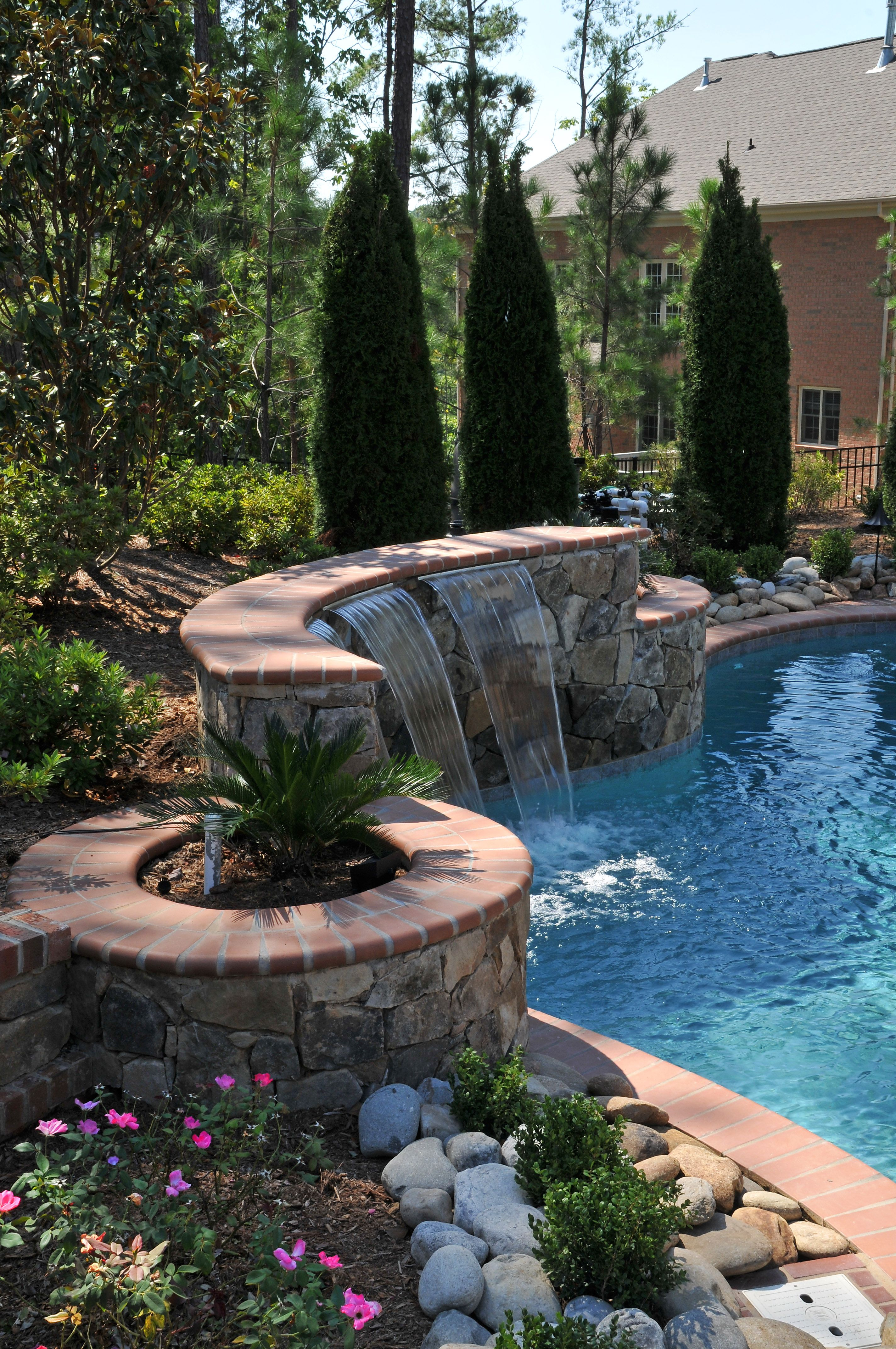 This Pool Is Built Into A Hill To Maximize Privacy From Adjoining Neighbors Swimming DesignsSwimming PoolsPool SlidesBackyard PoolsOutdoor