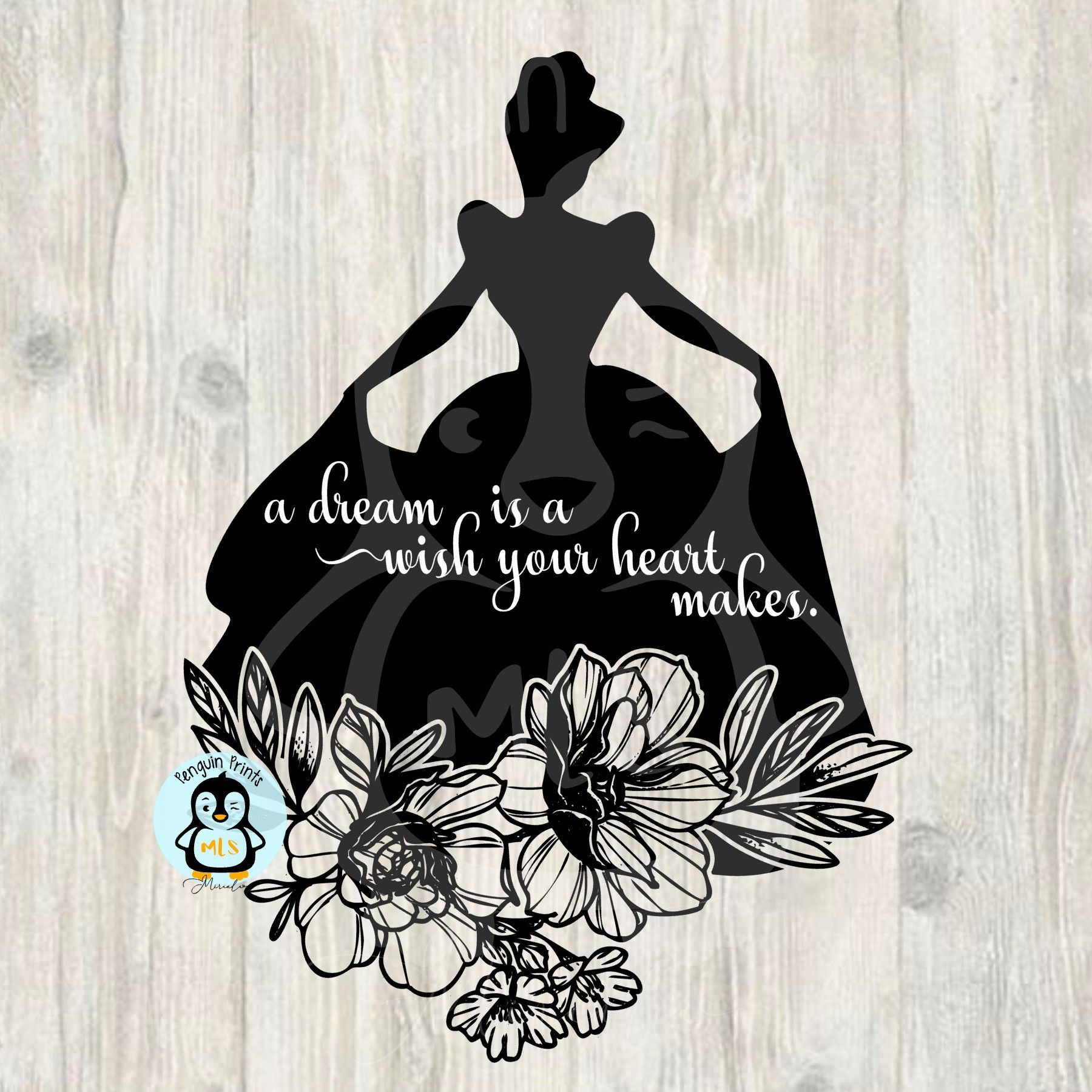A Dream Is A Wish Your Heart Makes Cinderella Silhouette Svg