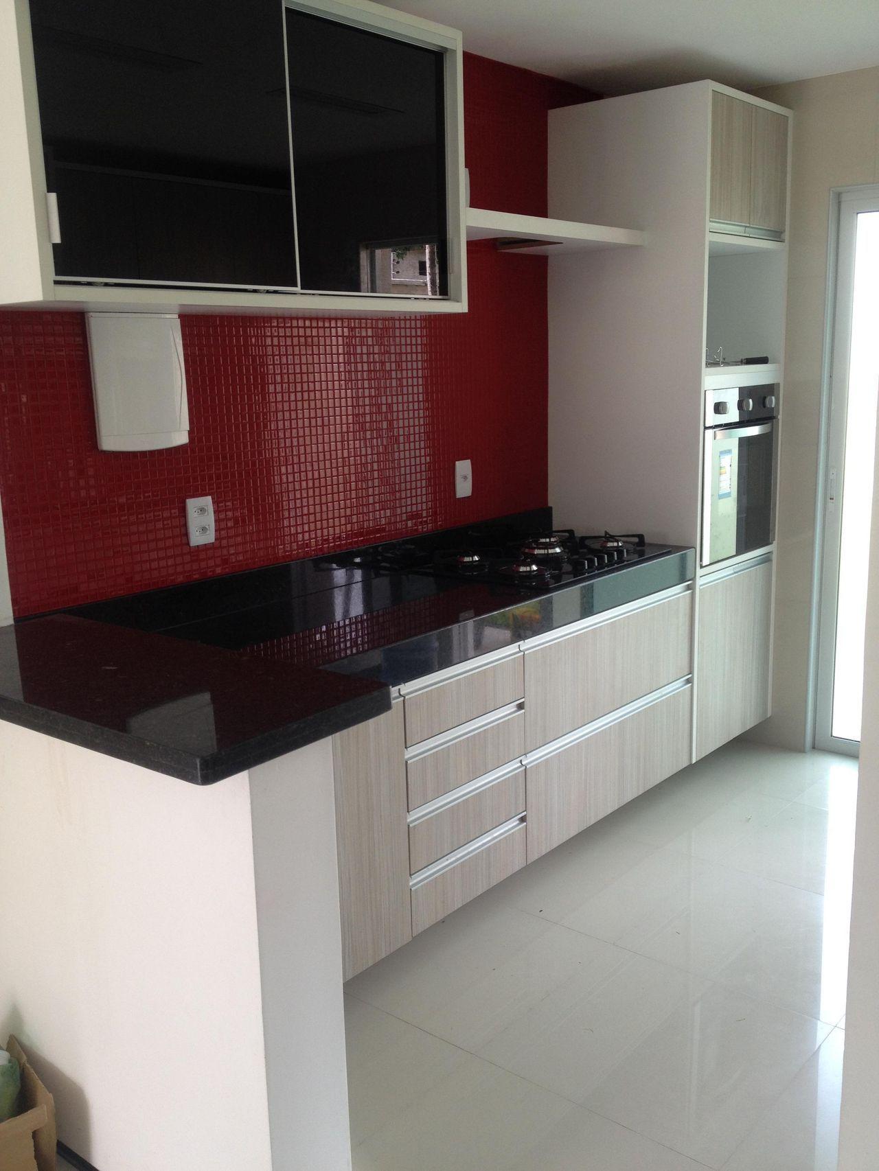 Cozinha Branca Preta E Vermelha Casa Pinterest House