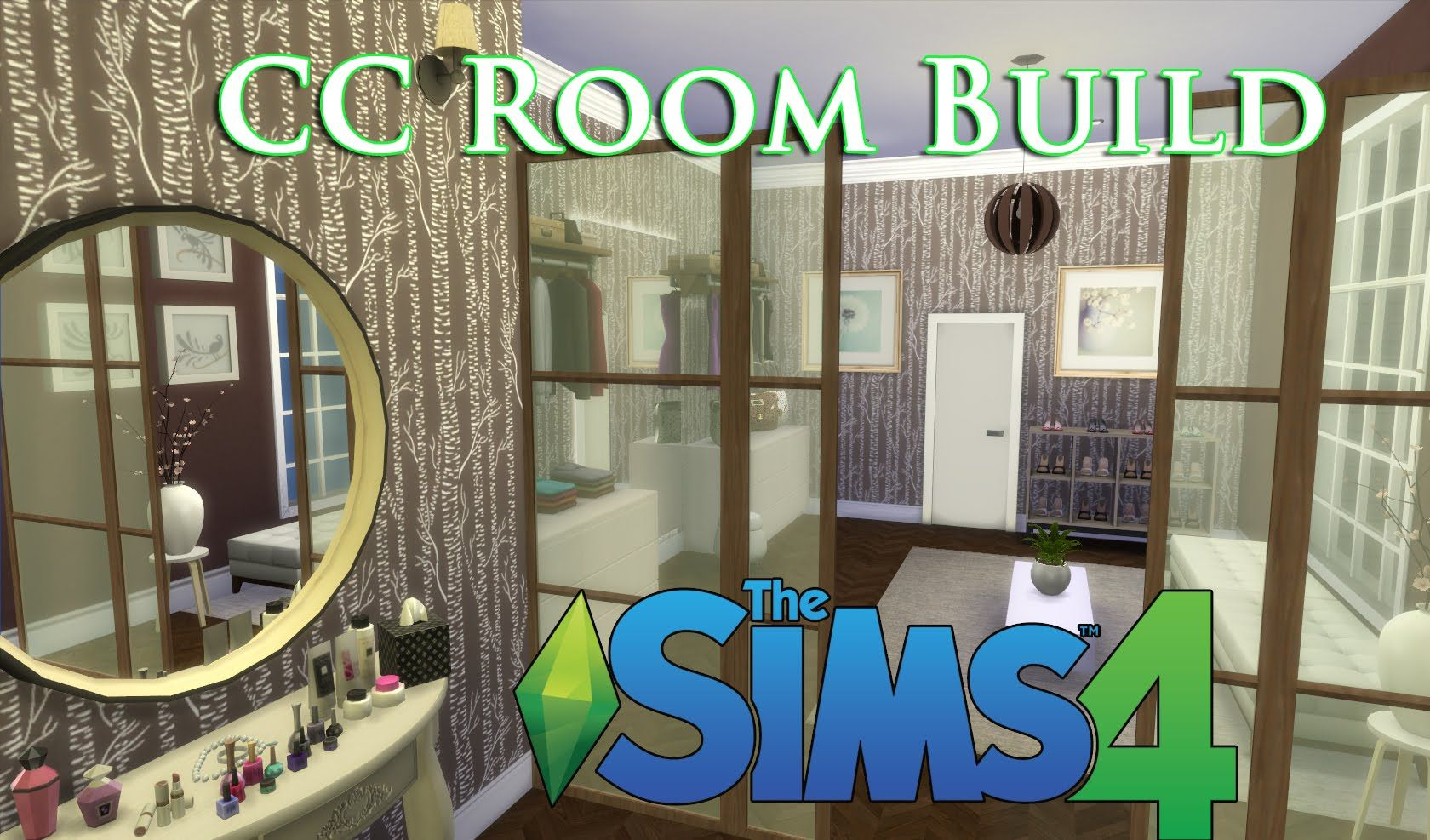 The Sims 4 CC House Build (Episode 6) Walk in Closet!