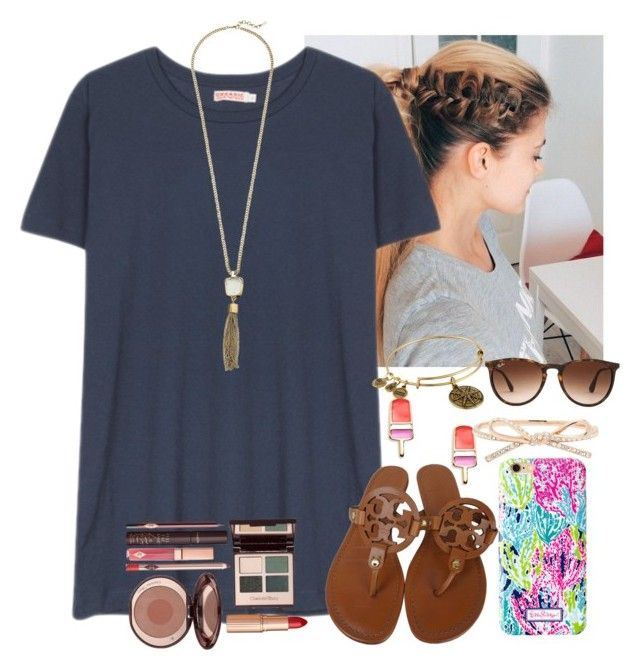 """""""Fun little outfit:)"""" by flroasburn ❤ liked on Polyvore featuring Organic by John Patrick, Tory Burch, Cole Haan, Kate Spade, Alex and Ani, Ray-Ban and Charlotte Tilbury"""