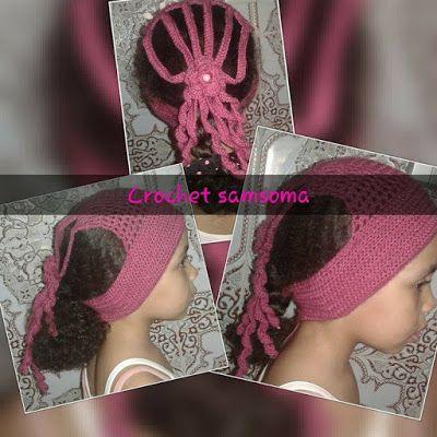 كروشيه ربطة شعر كروشيه بندانة شعر كروشيه ربطة شعر اطفال كروشيه ربطة شعر Crochet Headbands Crochet Pattern Banda Crochet Headband Crochet Bandana Crochet