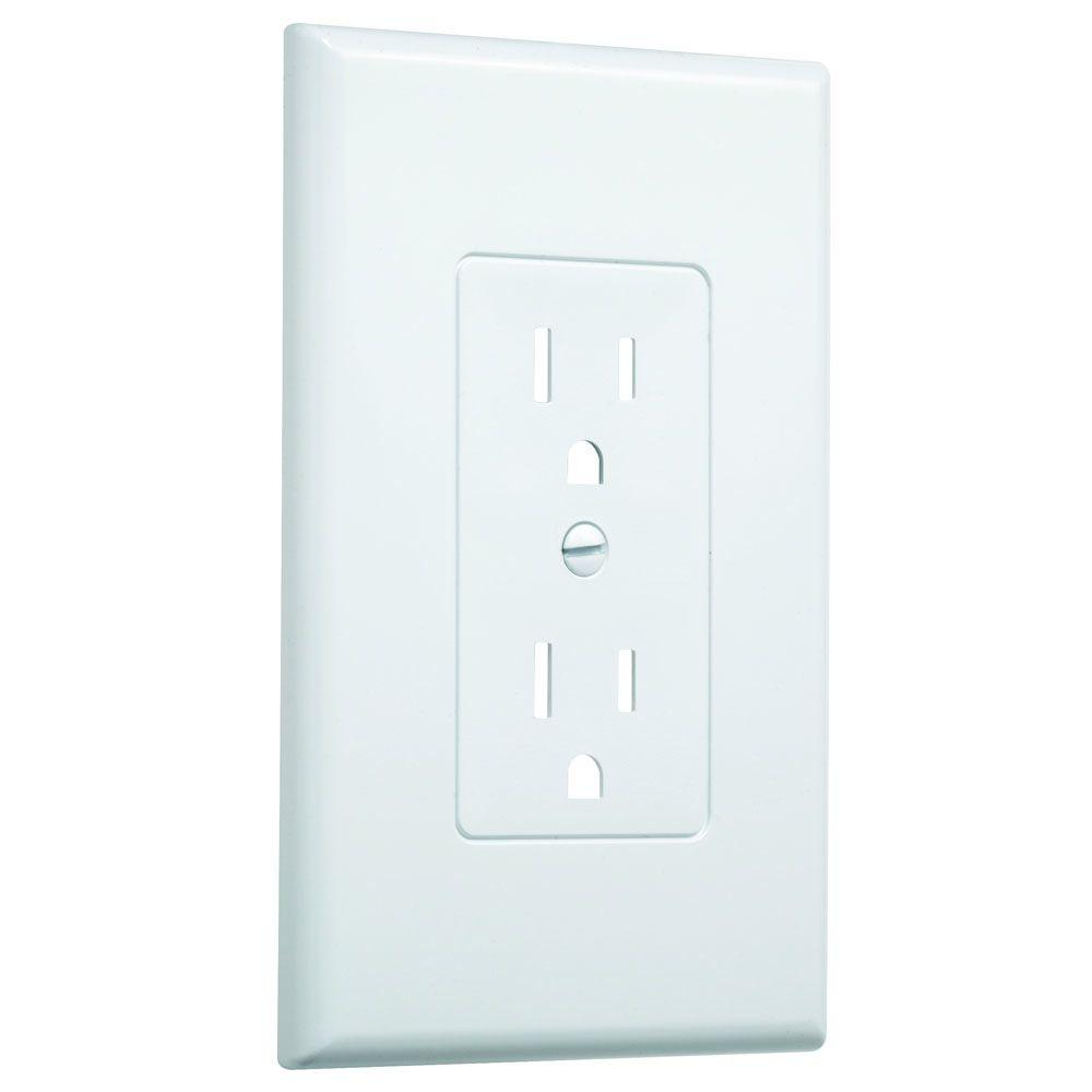 Wall Socket Plate Covers Cover Ivory Outlets Hubbell Taymac 1Gang Decorator Wall Plate