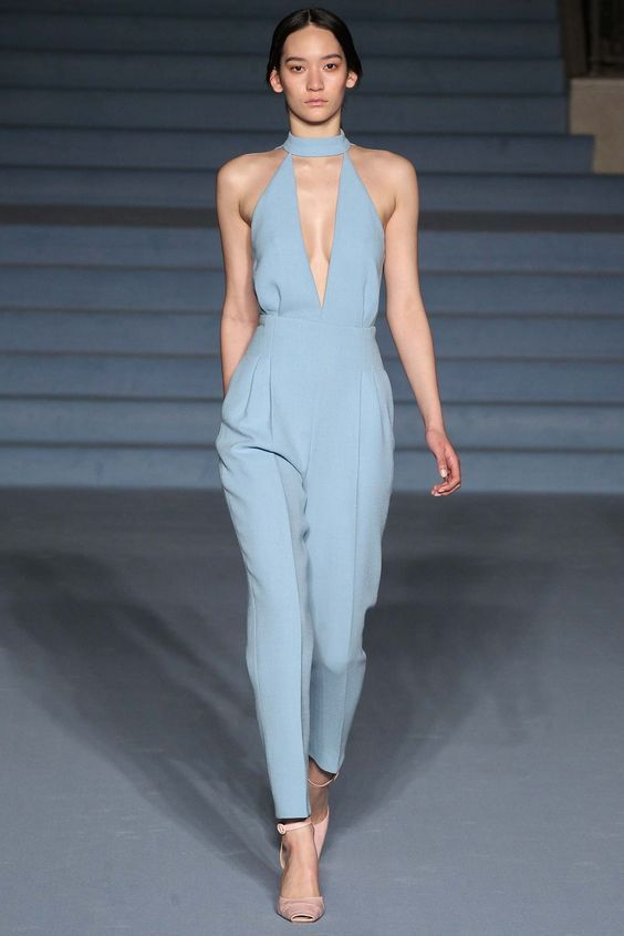 9587344b805 Prettiest pastel jumpsuit - Emilia Wickstead - Fall 2015 Ready-to-Wear -  Look 17 of 30