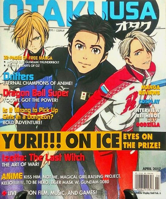 OTAKU USA Magazine April 2017 Drifters Anime Cosplay Manga Yuri Rei Hiroe NEW