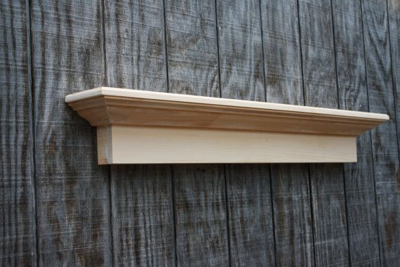 Unfinished Wooden Wall Shelf By Rayscustomwoodwork On Etsy 99