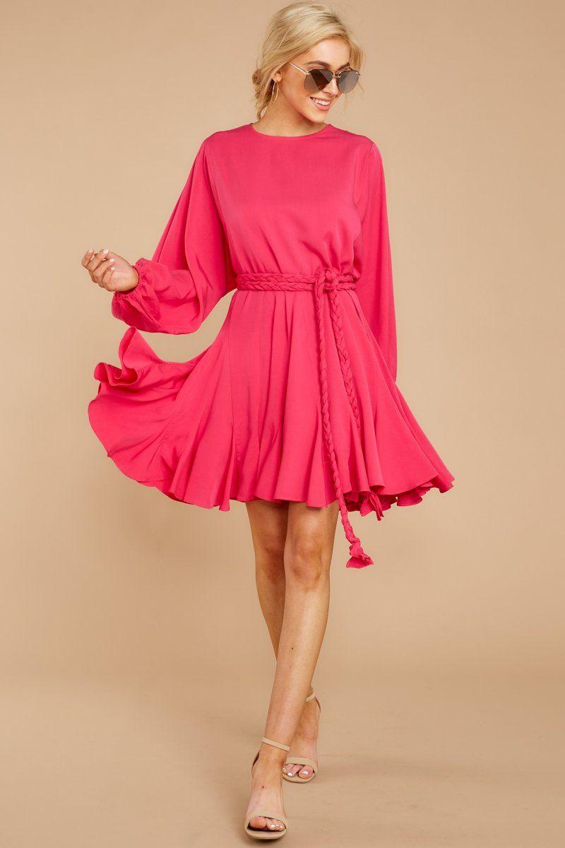 Everyday Here Pink Dress Dresses Hot Pink Dresses Pink Dress