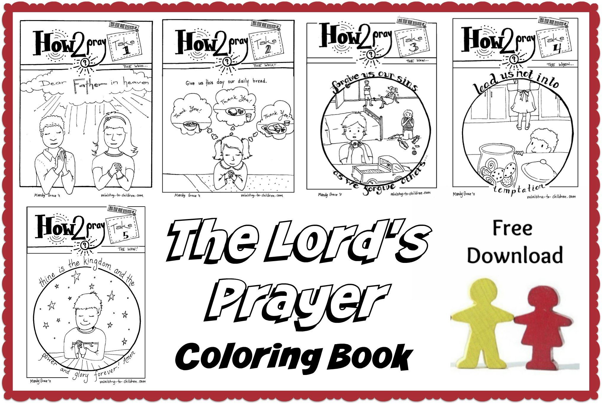 The lords prayer coloring pages 🙏 free pdf download