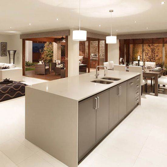 Linen Quartz Countertops Add The Perfect Amount Of Warmth To This