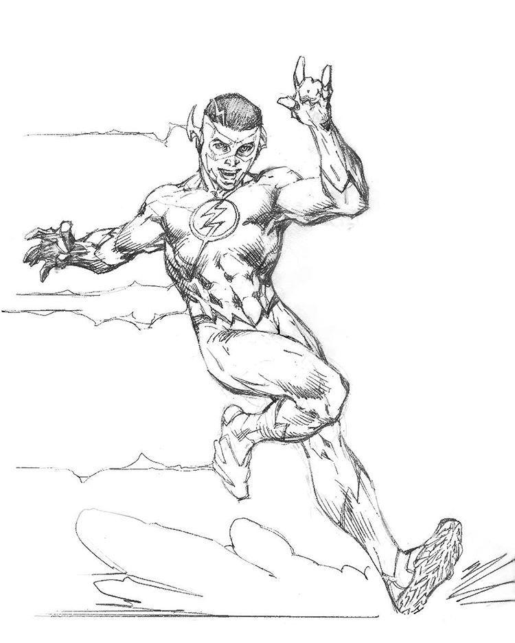 Kid Flash Pencils By Jim Lee DCRebirth Dccomics