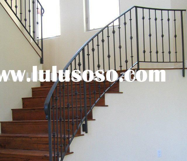 Rod Iron Stair Railing Part - 42: Rod Iron Banisters | Metal Stairs Railing Details, Commercial Metal Stairs  Railing .