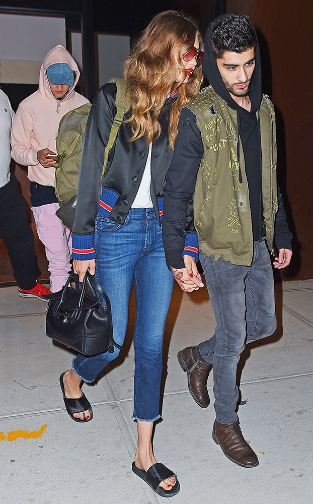 f63c45895e Just Can t Get Enough  Gigi Hadid and Her Versace Palazzo Empire Bag ...