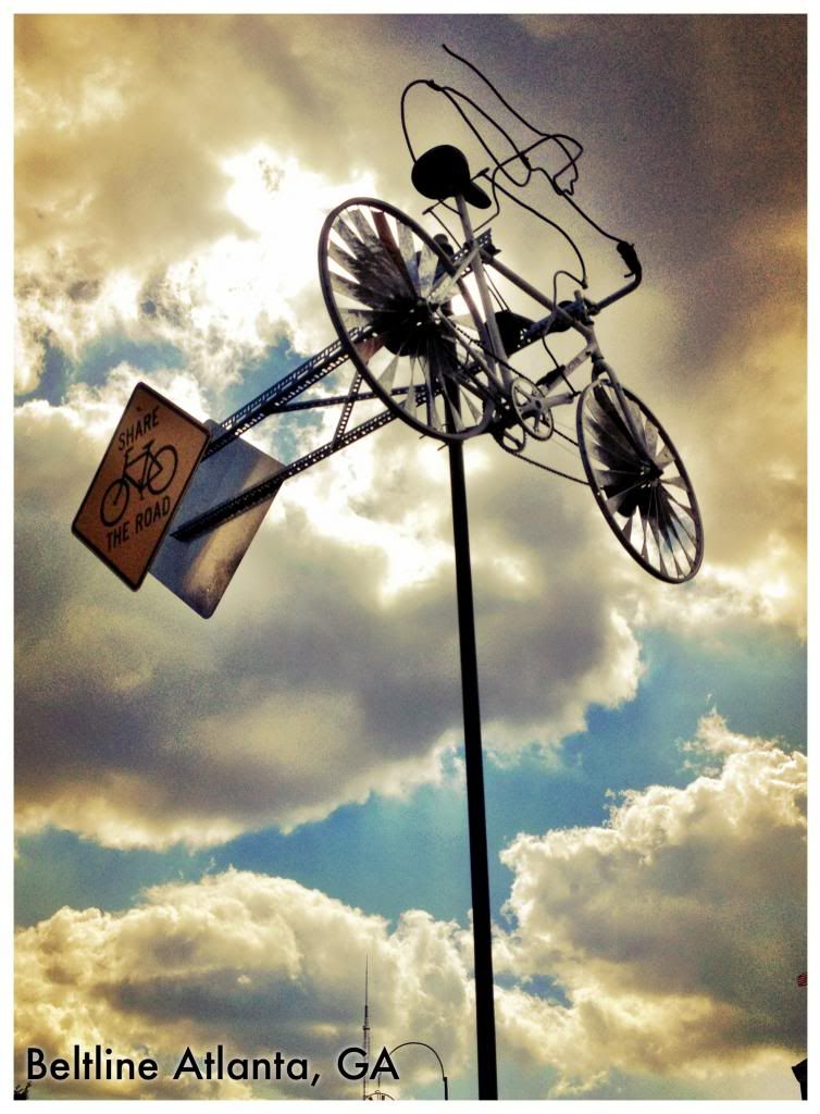 Atlanta Beltline Whirling Wheels By Dr Alex Rodriguez 2012 Whirling Wheels Is A Spinning Collection Of Windmills Bicycle Art Kinetic Sculpture Wind Art