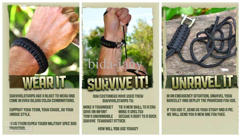 1lot 550 Paracord Survival Bracelet Paracord Bracelet Survival