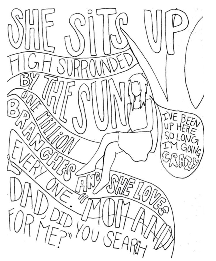 I draw band lyrics drawing pinterest emo bands for Band coloring pages