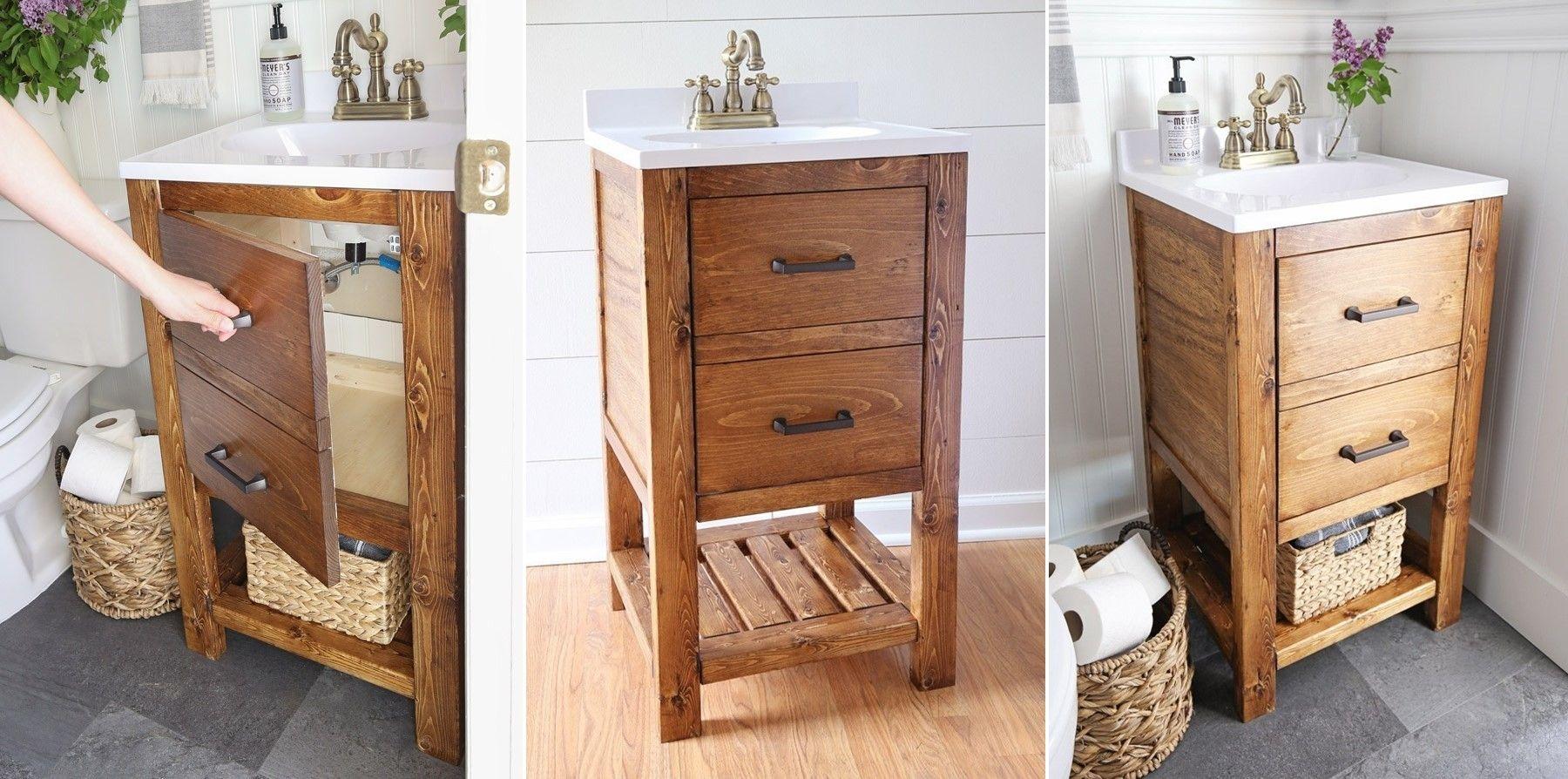 13 Amazing Small Bathroom Vanity Ideas You Can Try Easily Diy Bathroom Vanity Small Bathroom Vanities Diy Bathroom Small bathroom vanity ideas