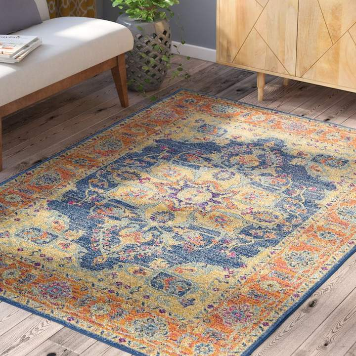 Mistana Hillsby Burnt Orange Teal Area Rug Products In 2019