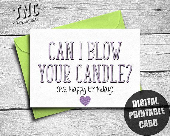 Naughty Birthday Card Boyfriend