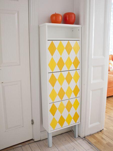 Heja loppanpoppan för pimpat skoskåp! Ideas for a small hallway Pinterest Gör det själv