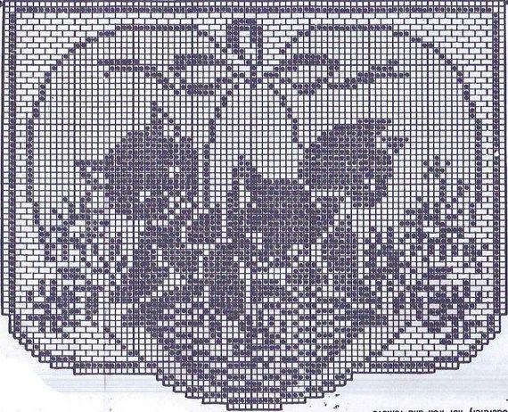 Vtg Häkeln Muster 2125 Stuhl Set Filet Häkeln Korb Von Kätzchen