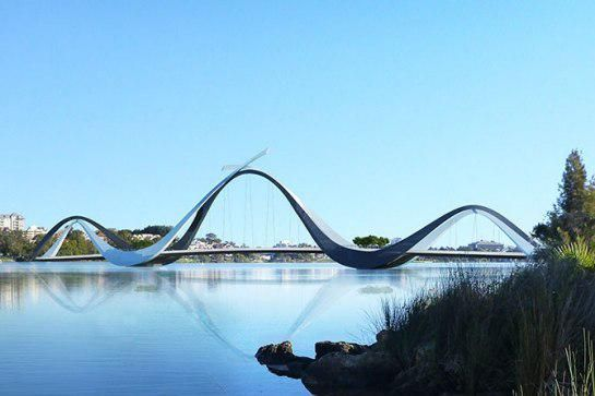 An Undulating Snake Like Footbridge Will Connect A 60k Seat Sports Stadium  To Parking