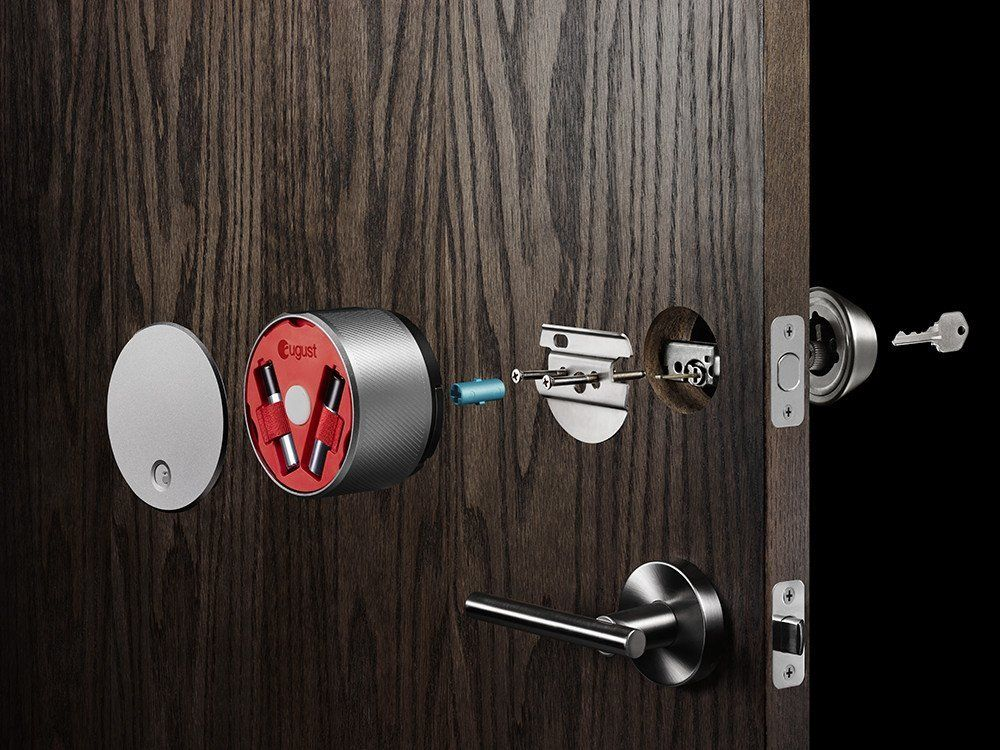 August Smart Lock Keyless Home Entry With Your Smartphone Red Co