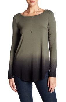 Karen Kane - Long Sleeve Ombre-Dye Tee $15 @ Nordstrom Rack