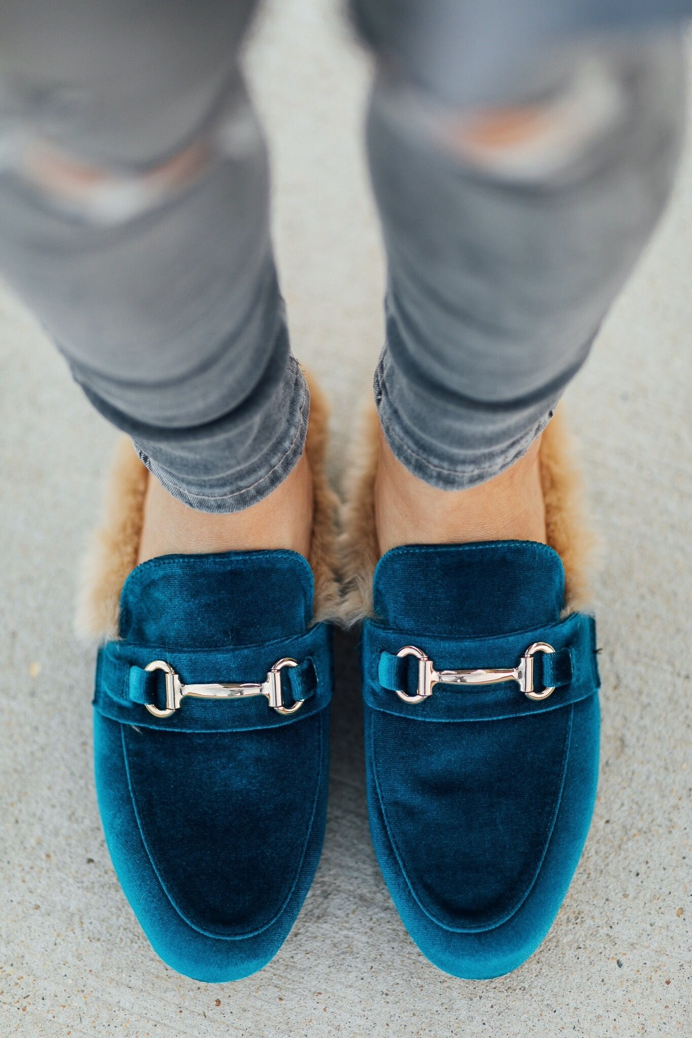 04d9925275a Steve Madden Jill Turquoise Fur Loafer Mules | Shoes in 2019 | Fur ...