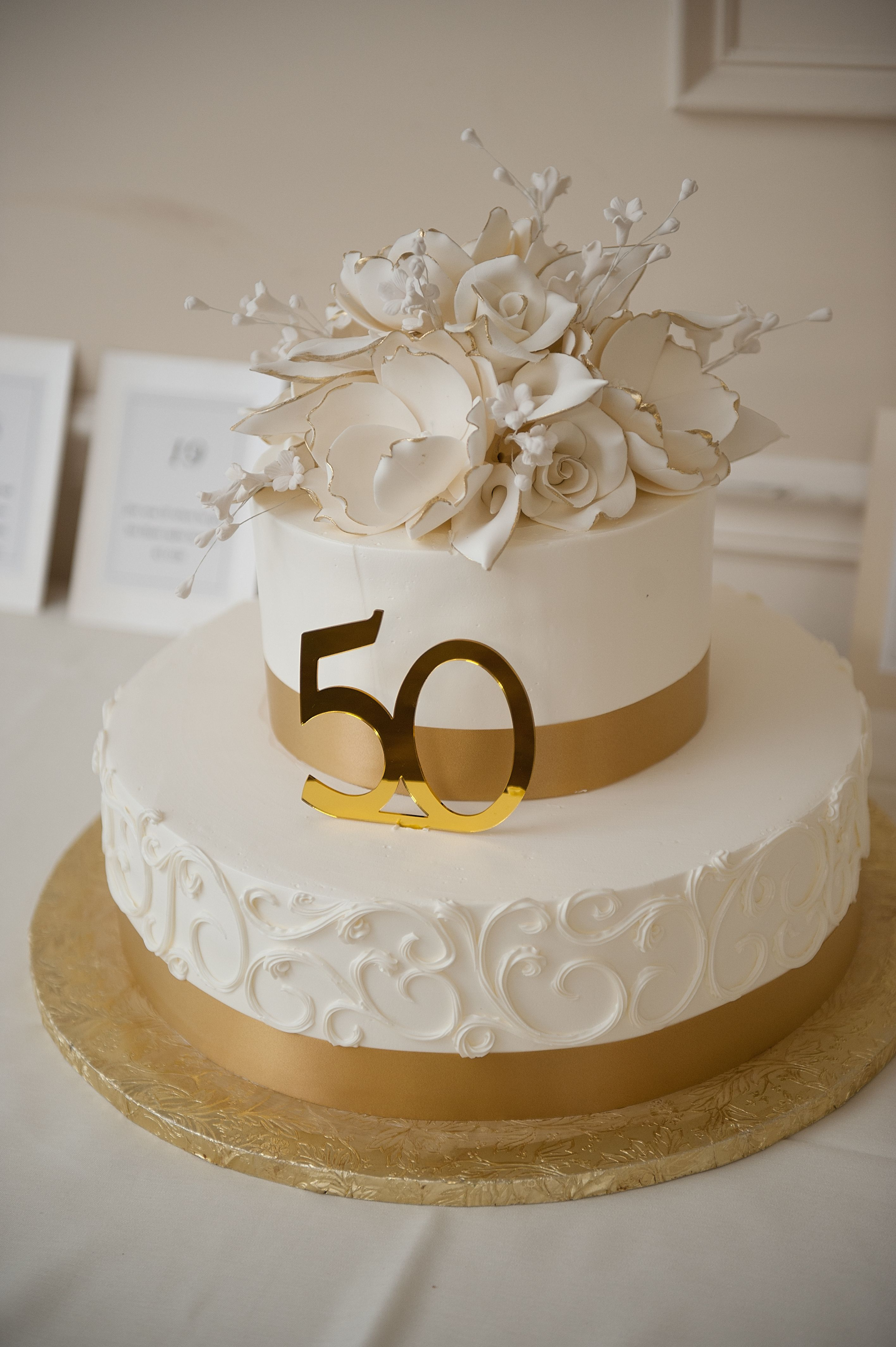Terrific My Parents 50Th Wedding Anniversary Cake From Konditor Meister In Funny Birthday Cards Online Overcheapnameinfo
