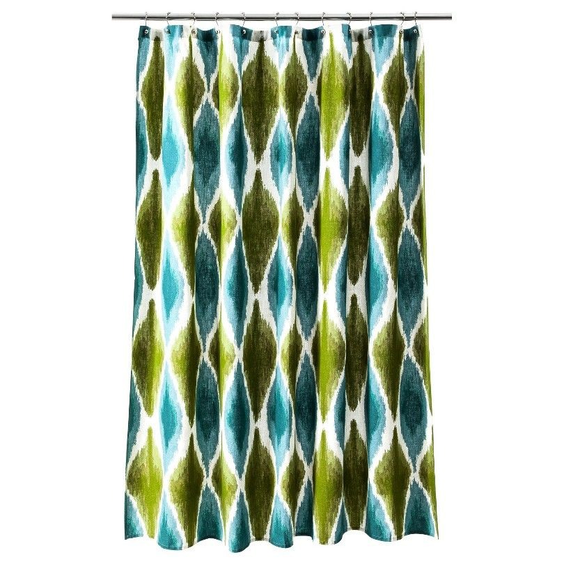 Threshold™ Large Ikat Print Shower Curtain : Target | Decor ...