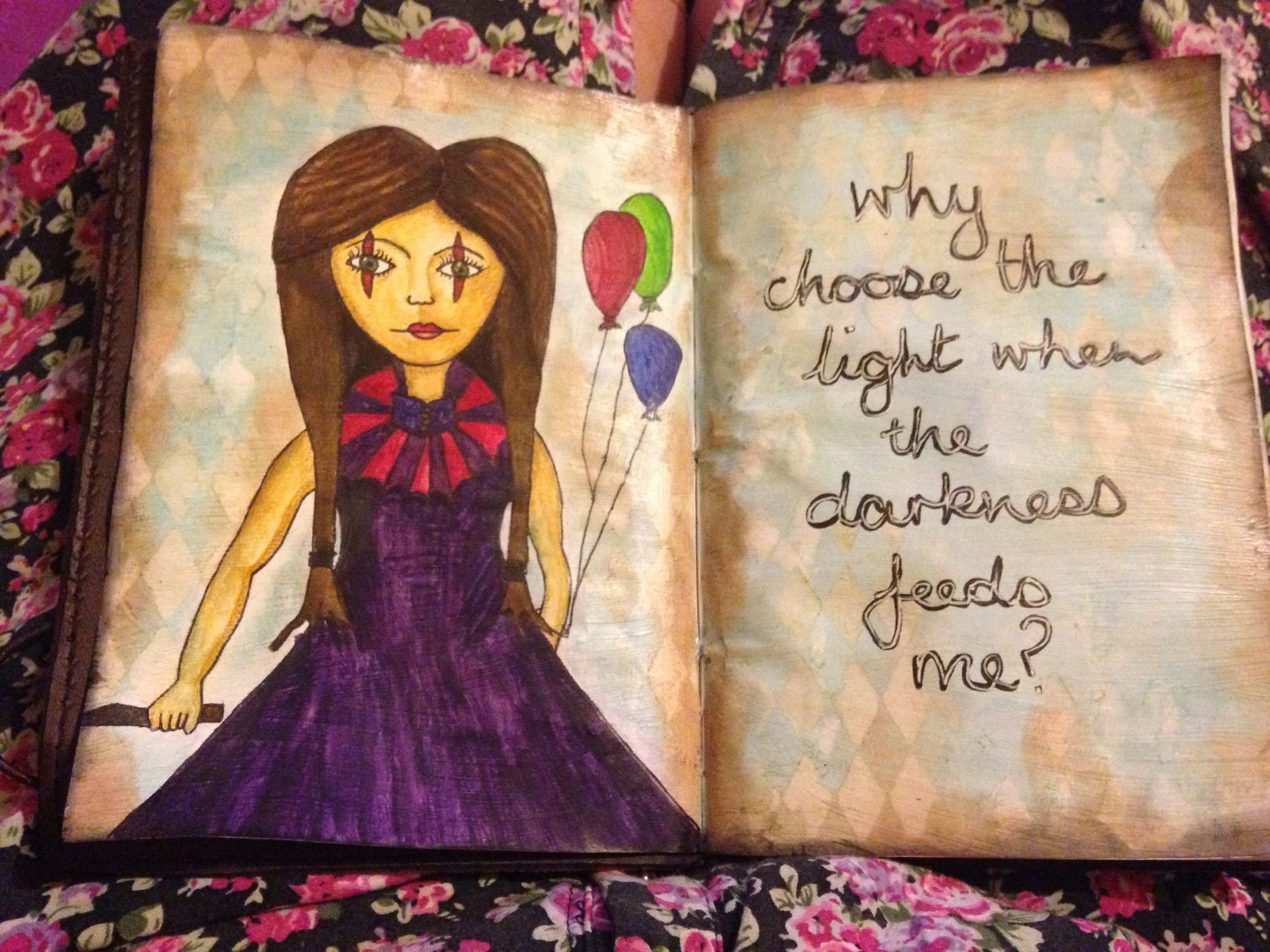 One of my creatures... Little journal page