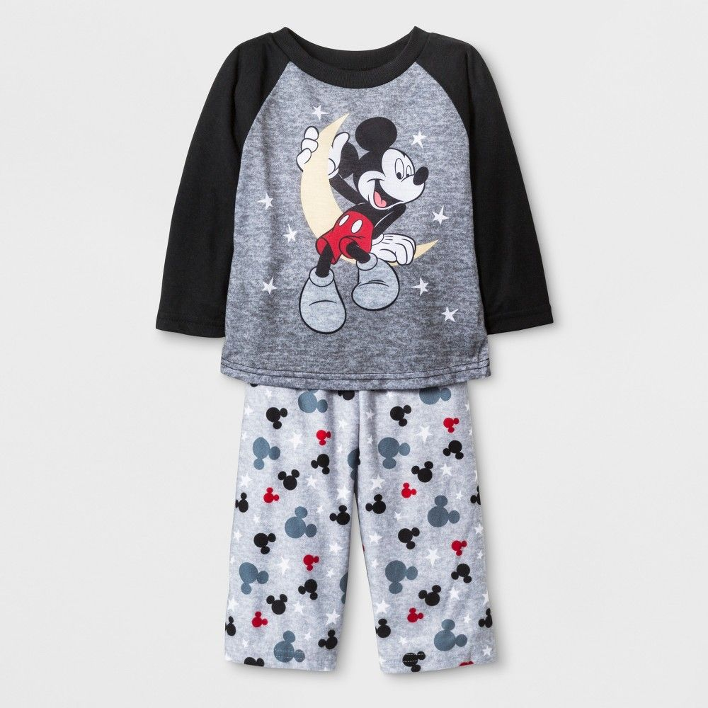 a457bb2cd Mickey Mouse Baby Boys  2pc Poly Pajama Set - Black 18M
