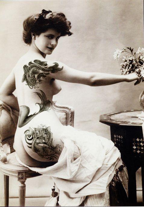 tattoo women Vintage