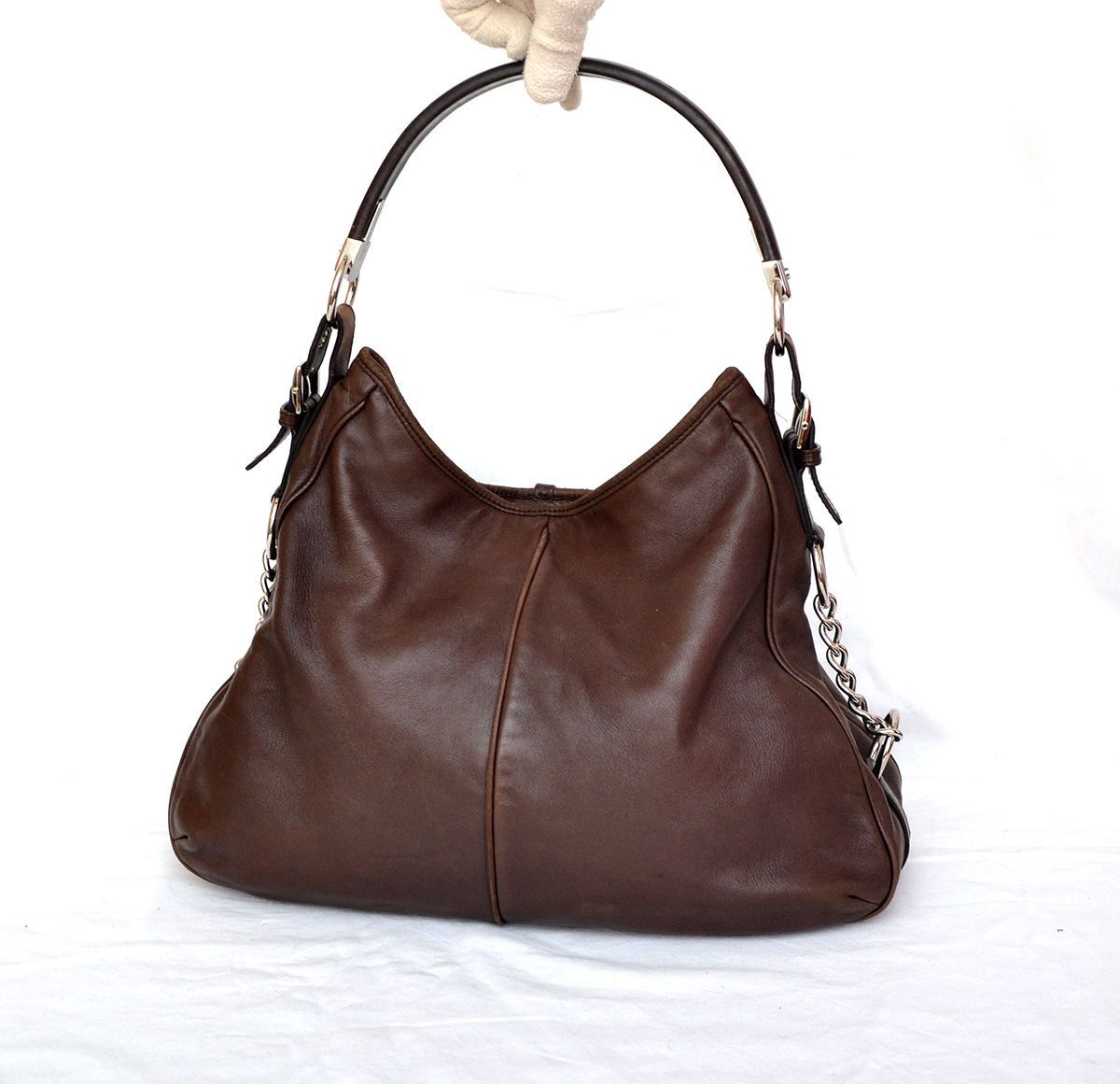 8c95196deaa0 Sergio Rossi Soft Leather - Chain Shoulder Bag Hobo by MySunnyStore on Etsy