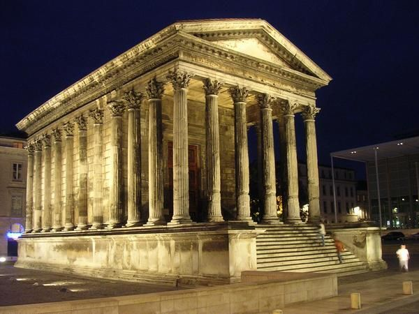 Maison Carree Nimes France c 16 BC The only surviving
