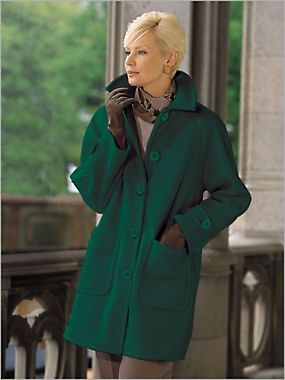 Fleece Topper Coat By Brownstone Studio Winter Warmers