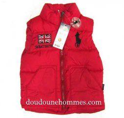92cb47c9eb653 Gilet doudoune ralph lauren pas cher enfant Flag Britain rouge   Men ...