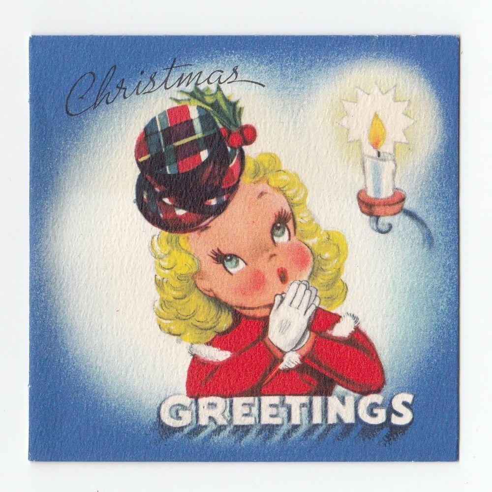 Vintage greeting card christmas gibson gal girl lady 1940s hat vintage greeting card christmas gibson gal girl lady 1940s hat kristyandbryce Image collections