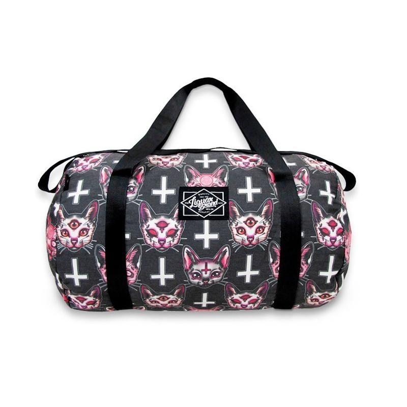 Satanic Cats Duffle Bag #CatFace #cats #3Eyes #cult #PillowCover #PillowCovers #duffel