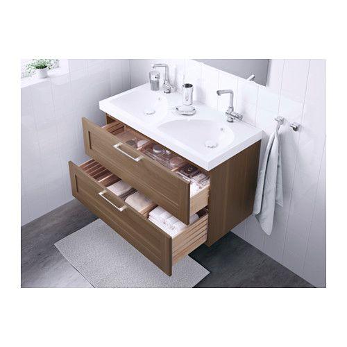 godmorgon edeboviken meuble lavabo 2tir motif noyer ikea salle de bain pinterest. Black Bedroom Furniture Sets. Home Design Ideas