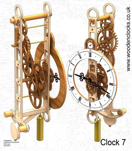 Download Three New Free Wooden Clock Plans Woodworking In 2019