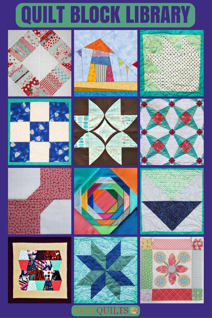 Quilt Block Library | Bloques, Patrones y Costura
